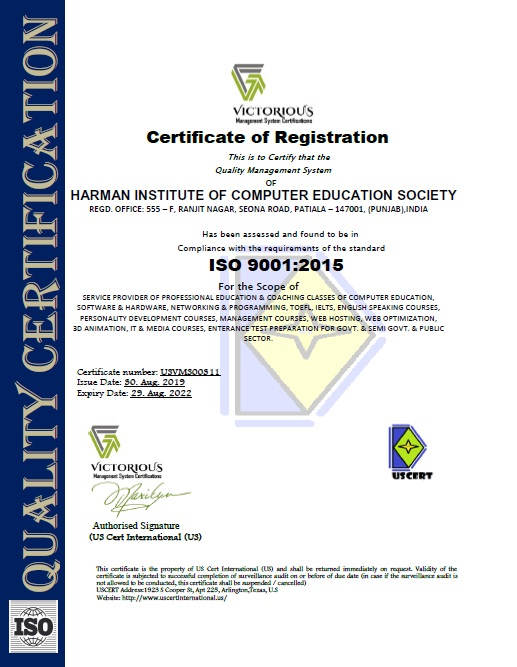 Welcome to hices herman institute of computer education society harman institute of computer education society hices is iso 90012008 certified click here to view the certificate xflitez Gallery